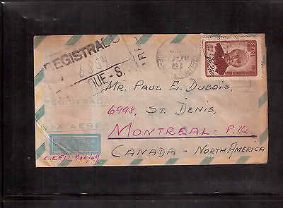 Brazil 1959 Registered Cover To Canada !!!