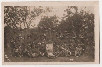 Manchester ?, Military Regimental Band Real Photo Postcard, B594
