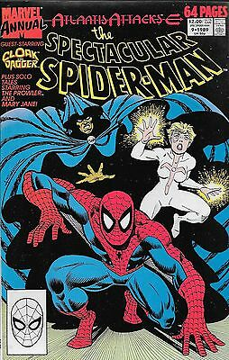 The Spectacular Spider-Man Annual No.9 1989 Atlantis Attacks / Cloak and Dagger