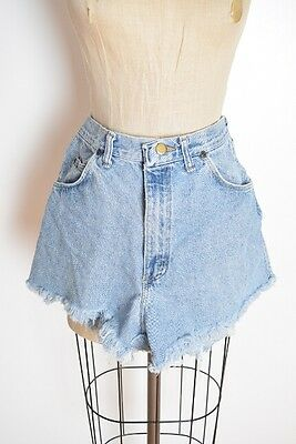 vintage 80s jean shorts Wrangler high waisted cut off denim blue jeans M