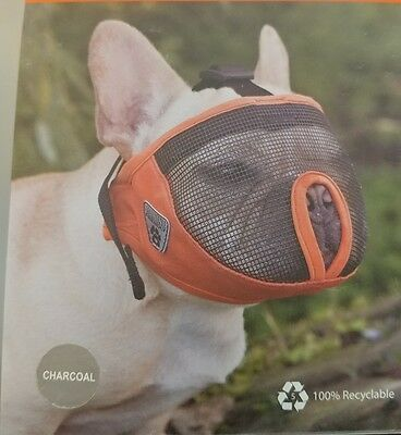 NEW Canine Friendly Short Snout Dog Muzzle,Small, Charcoal