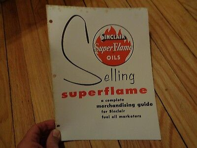 Sinclair Super Flame Superflame Oils Merchandising Guide Vintage