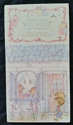 Vintage Hallmark Betsey Clark Doll House Party Favor Paper Dolls Unused