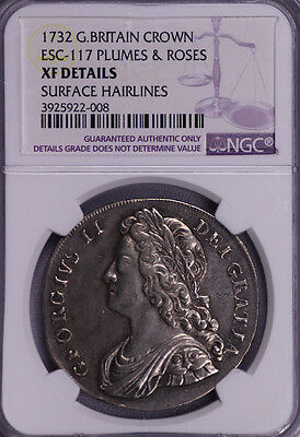 Ngc-Xfd 1732 Great Britain Esc-117 Crown Toned