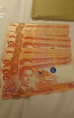 PHILIPPINES 20 PESOS 2016J  NEW UNC  buy more than 1 get consecutive nos