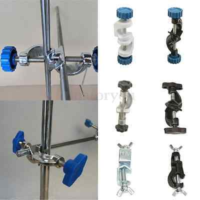 Lab Stands Double Top Wire Clamps Holder Metal Grip Supports Right Angle Clip