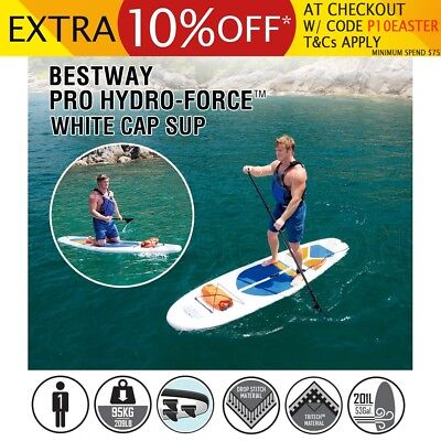 Bestway 3M Inflatable Stand Up Paddle Board Kayak Paddle Pump Surfboard Sup