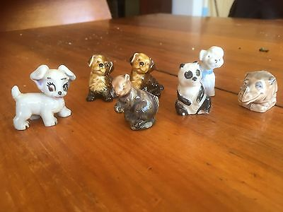 7 x Small Curios Ornaments Collectors Ceramic Whimsies Wade