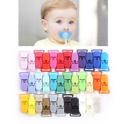 5pcs Infant Mixing Colors Holder Pacifier Clip Soother Clips Dummy Clips Chain