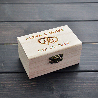 Wood Gift Ring box 10cm jewellery Customized wedding Gift