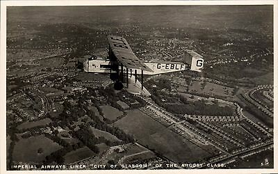 Croydon. Imperial Airways Liner City of Glasgow of the Argosy Class # 5 by Tuck.