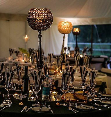 Crystal Effect Globe Candle Holder-Wedding -Table Centrepiece - Event-Party-