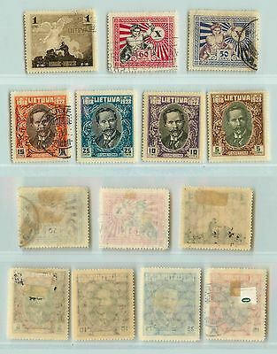 Lithuania, 1928, SC 226-232, mint or used. rta4476