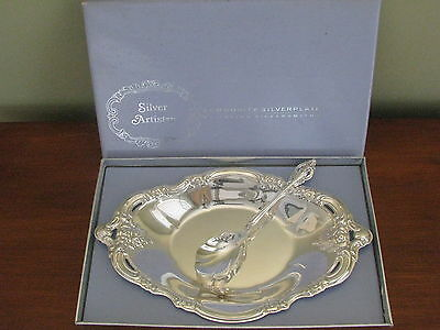 SILVER ARTISTRY Community Oneida BON BON BOWL + SUGAR SPOON in original box