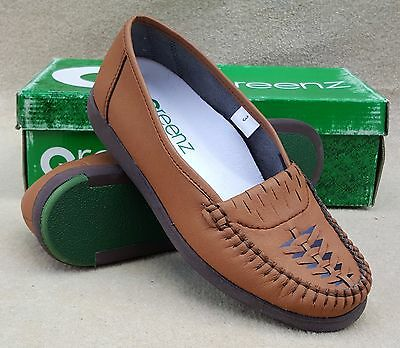 GREENZ Ladies Vicki Tan Slip On Bowls Bowlers Shoes UK 3 Ex Display (29)