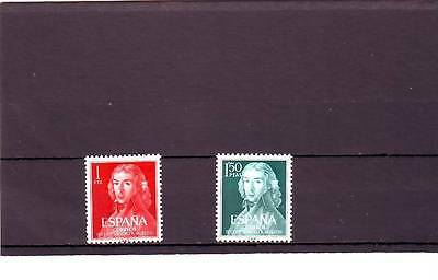 Spain - Sg1389-1390 Mnh 1961 Birth Bicentenary Moratin