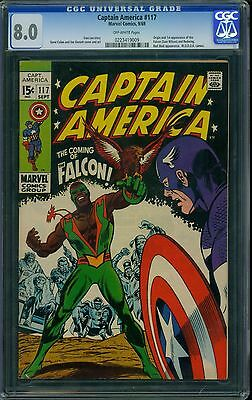 Captain America 117 CGC 8.0 - OW Pages - 1st Falcon