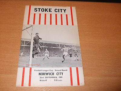 1965 - 1966 STOKE CITY v NORWICH # LEAGUE CUP 2ND RD