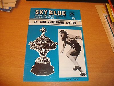 1973 COVENTRY CITY v MOTHERWELL TEXACO CUP