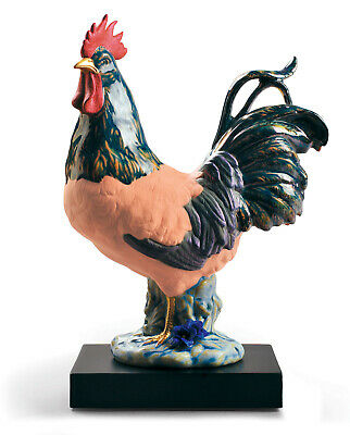Lladro #9233 The Rooster Limited Edition With Base Brand New In Box Zodiac Farm