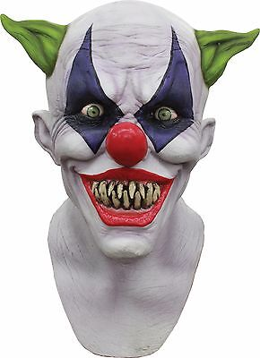 Creepy Giggles Clown Mask Latex Scary Adult Full Over Head Party Costume 26447