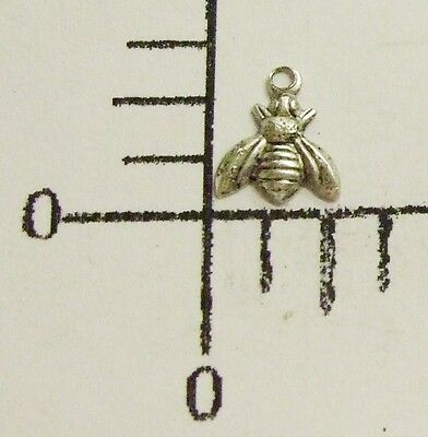 34094        6 Pc. Matte Silver Oxidized Small Honey Bee Jewelry Finding Charm