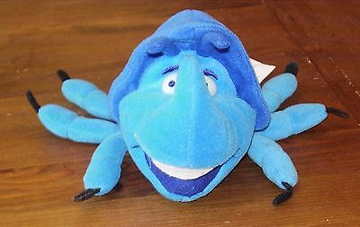 Rare Disney's A Bug's Life Dim the Rhino Beetle Bean Plush Collectable Soft Toy