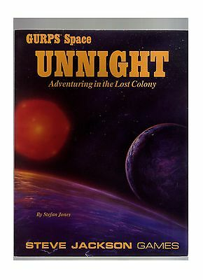 Gurps Space (Unnight Adventuring In The Lost Colony) Never Been Played Mint