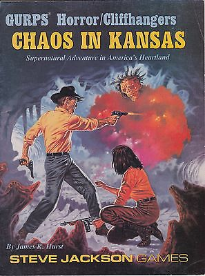 """GURPS HORROR/CLIFFHANGERS """"CHAOS IN KANSAS"""" #6110 NEVER BEEN PLAYED 1st PRINTING"""