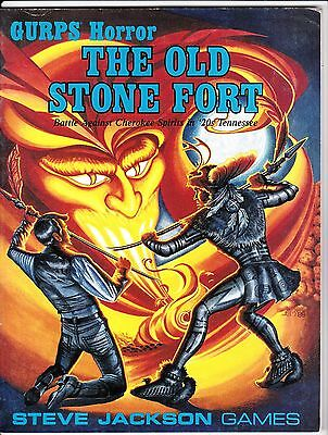 """GURPS HORROR """"THE OLD STONE FORT"""" #6100 NEVER BEEN PLAYED 1st PRINTING"""