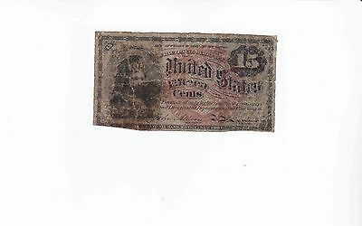US Fractional Note 15 Cent  Fourth Issue Act of 1863 affordable