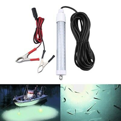 12V Underwater Submersible Fishing Light Freshwater Lamp Crappie Shad Squid Boat