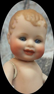 "4 3/8"" German Bonnie Babe Repro,, Sweet Character Baby Ready To Dress"