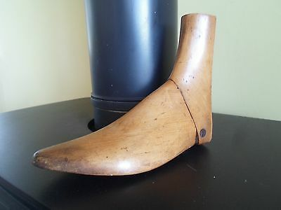 ONE Wooden Antique Treen Vintage Shoe Stretcher - Retro Display or Prop