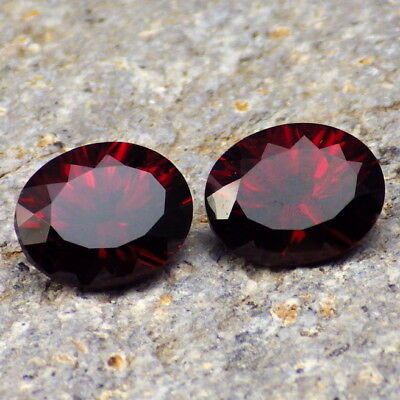 SPESSARTINE GARNET-TANZANIA 7.36Ct TW FLAWLESS-MATCHING PAIR-FOR TOP JEWELRY!