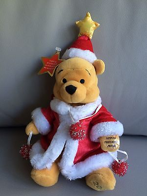 Disney Store Beanie Plush Christmas Tinsel Pooh Adult Collector Displayed