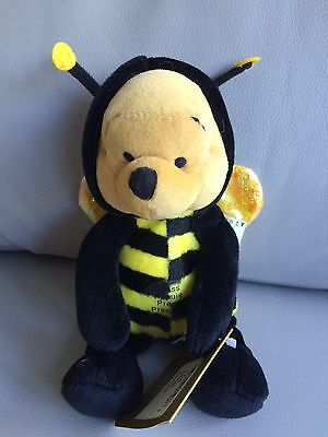 Disney Store Beanie Plush Bumble Bee Pooh Adult Collector Displayed
