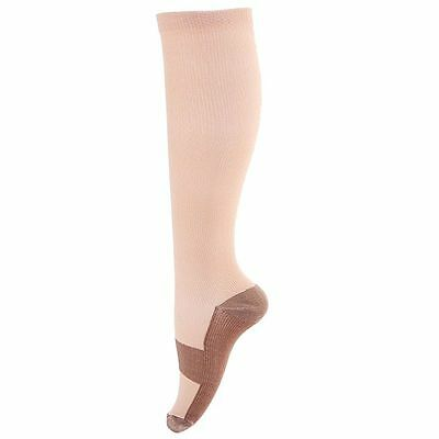 Lady Varicose 24mmHg Graduated Compression Stocking Pair Sport Athletic Pregnant