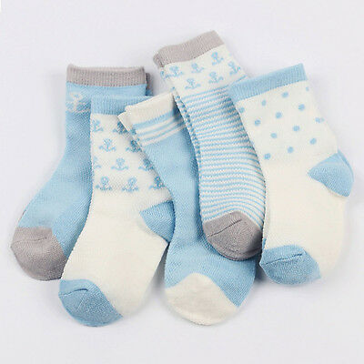 Toddler Infant 3 Pairs NewBorn Soft Baby Boy Girl Cartoon Cotton Socks Kids Sock