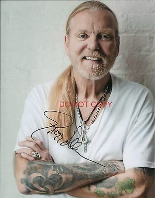 Gregg Allman of the Allman Brothers Band reprint signed 8x10 photo #1