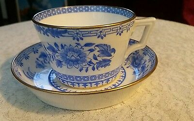 Mintons Antique Blue & White Cup and deep saucer 1882