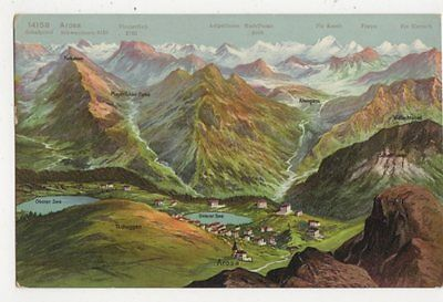 Arosa Vintage Postcard Switzerland 392a