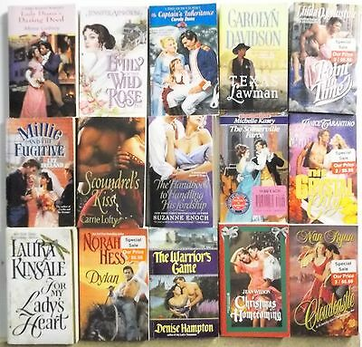 15 books HISTORICAL ROMANCE NOVELS Read list inside Lot #G795 Free US S/H