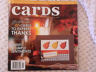 """""""CARDS"""" card making magizine book vol 5 issue 11"""