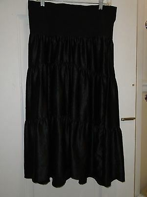 Maternity Skirt Sz Small Roll Belly Liz Lange Maternity Black Tiered Career
