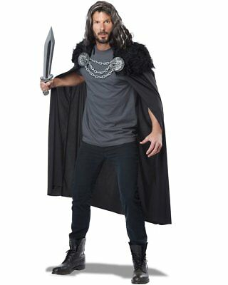 CL637 Wolf Clan Cape Mens Viking Norman Warrior Medieval Renaissance Costume