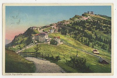 Rigi Staffel & Kulm 1928 Postcard Switzerland 393a