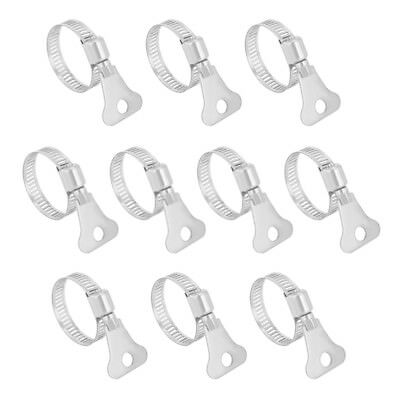19mm-29mm Clamping Range 304 Stainless Steel Butterfly Hose Clamp 10pcs