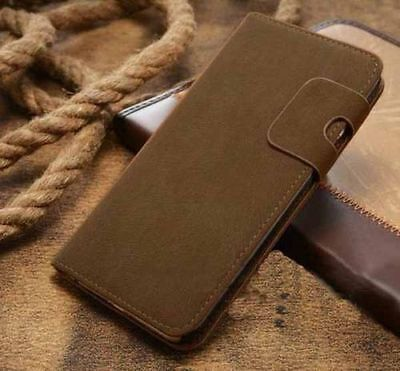 Magnetic Olive Magnetic Flip Wallet Swede Leather Case For Iphone 6 PLUS {Aw91