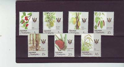 a123 - MALAYSIA/SARAWAK - SG247-253 MNH 1986 AGRICULTURAL PRODUCTS - NEW CREST